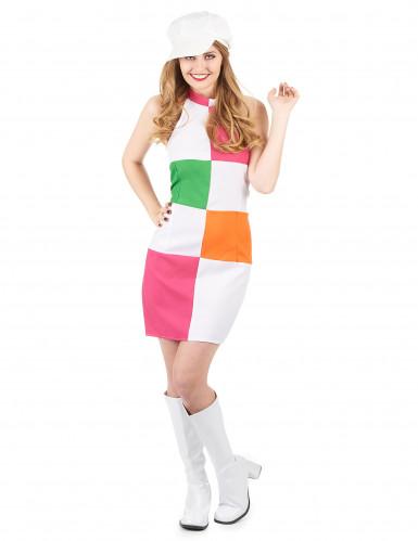 Disfraz estilo disco para mujer con gorra