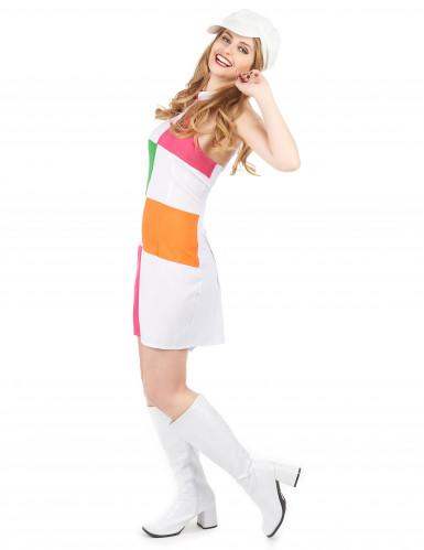 Disfraz estilo disco para mujer con gorra-1