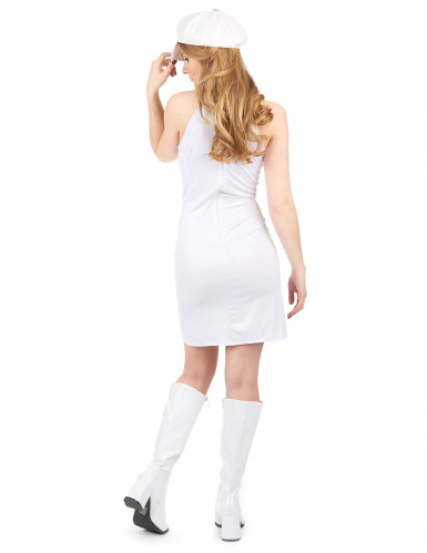Disfraz estilo disco para mujer con gorra-2