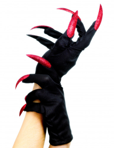 Guantes y uñas postizas de bruja ideales para Halloween