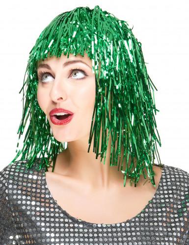 Peluca verde para mujer ideal para Saint Patrick