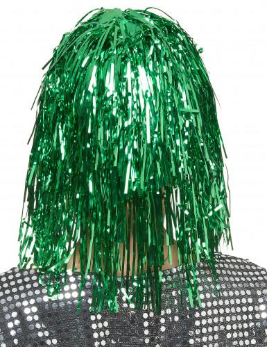 Peluca verde para mujer ideal para Saint Patrick-1