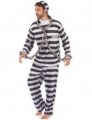 Disfraz de preso para hombre rayas-1