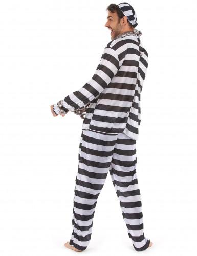 Disfraz de preso para hombre rayas-2