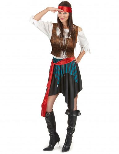 Disfraz de pareja de pirata de lujo-1