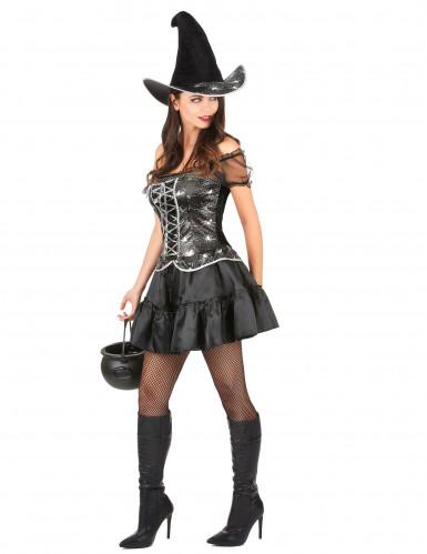 Disfraz de bruja sexy para mujer, ideal para Halloween-1