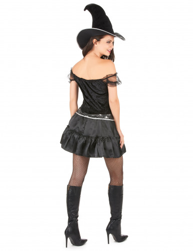 Disfraz de bruja sexy para mujer, ideal para Halloween-2
