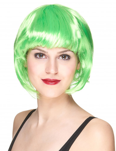 Peluca corta verde para mujer ideal para Saint Patrick