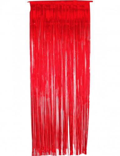 Cortina roja con brillos