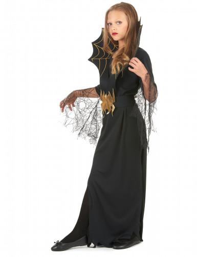 Disfraz de reina de las arañas para niña ideal para Halloween-1