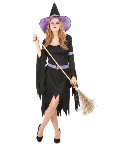 Disfraz de bruja con glamour para mujer, ideal para Halloween