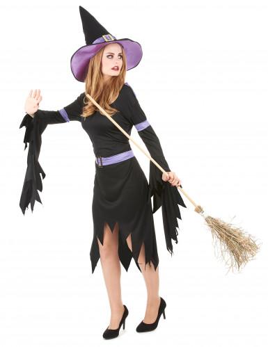 Disfraz de bruja con glamour para mujer, ideal para Halloween-1