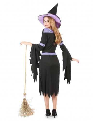 Disfraz de bruja con glamour para mujer ideal para Halloween-2