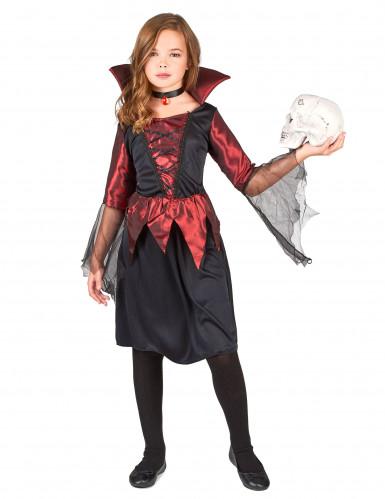 Disfraz de vampiresa para niña, ideal para Halloween