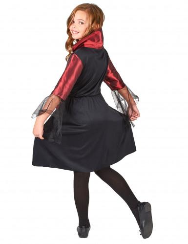 Disfraz de vampiresa para niña, ideal para Halloween-2
