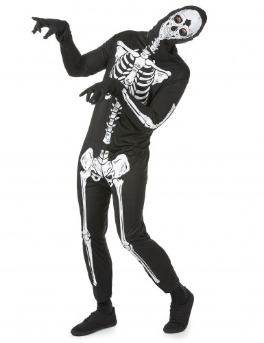 Disfraz de esqueleto para hombre, ideal para Halloween-1