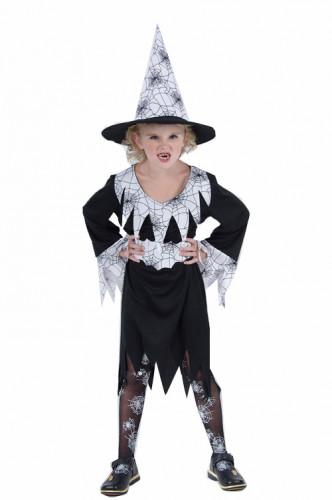 Disfraz blanco de bruja para niña, ideal para Halloween