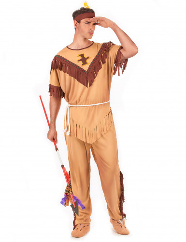Disfraz de guerrero indio para hombre