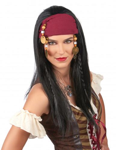 Peluca de pirata para mujer-1