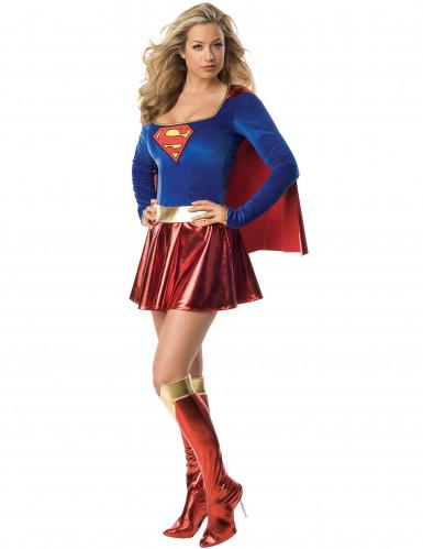 Disfraz de Supergirl™ sexy de lujo para mujer