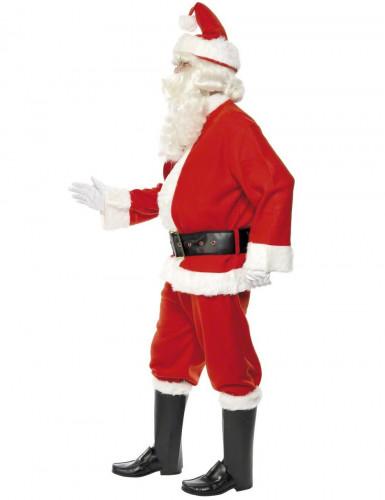 Disfraz de Papá Noel de lujo para hombre-2