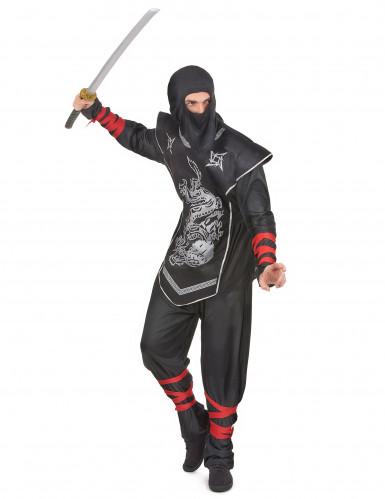 Disfraz plateado de ninja para hombre