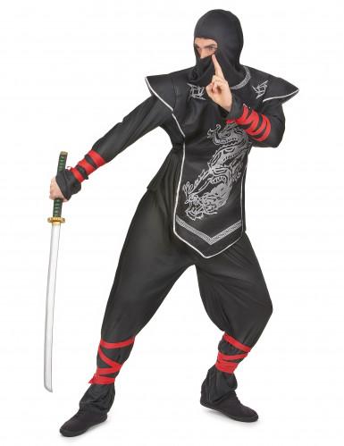 Disfraz plateado de ninja para hombre-1