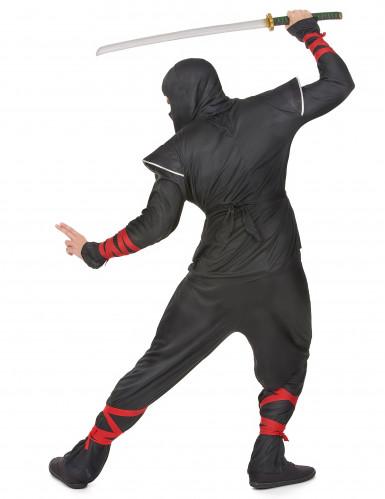 Disfraz plateado de ninja para hombre-2