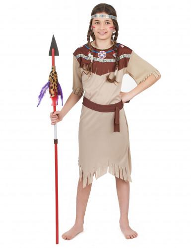 Disfraz pálido de india para niña