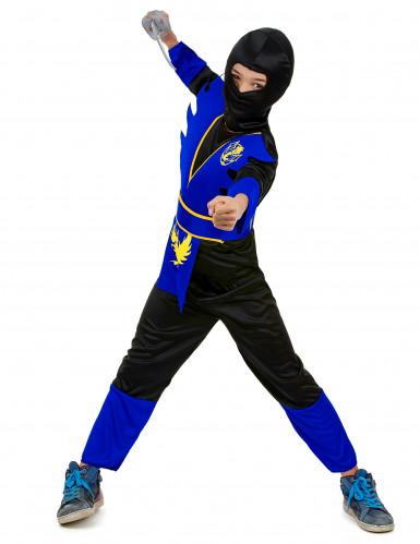 Disfraz azul de ninja para niño-1