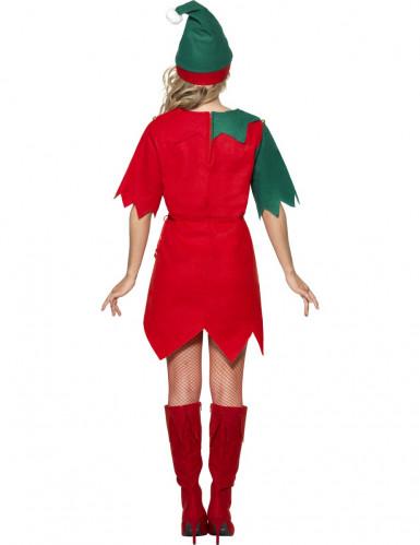 Disfraz de duende de Navidad túnica para mujer-1