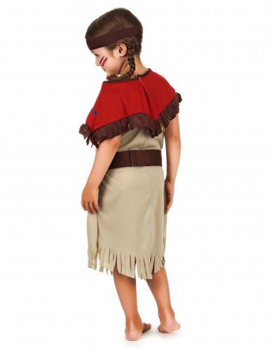 Disfraz de india rojo para niña-1