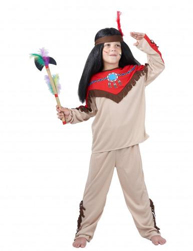 Disfraz de indio para niño rojo