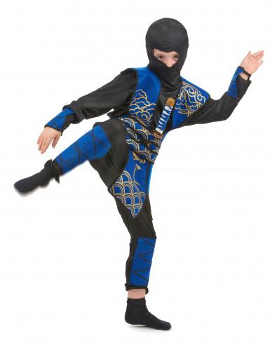 Disfraz ninja azul y negro niño