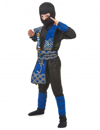Disfraz ninja azul y negro niño-1