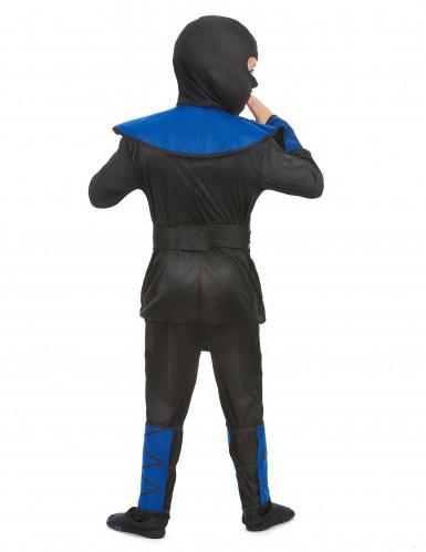 Disfraz ninja azul y negro niño-2