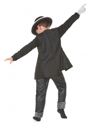 Disfraz negro de estrella del pop para niño-2