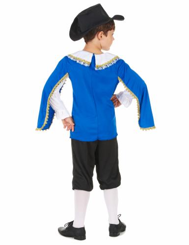 Disfraz azul de mosquetero para niño-2