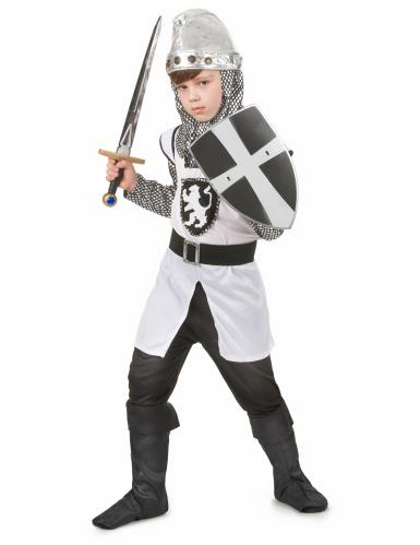 Disfraz de caballero cruzado medieval para niño-1