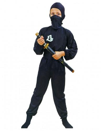 Disfraz negro de ninja comando para niño