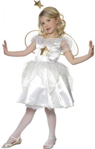 Disfraz de ángel de Navidad para niña