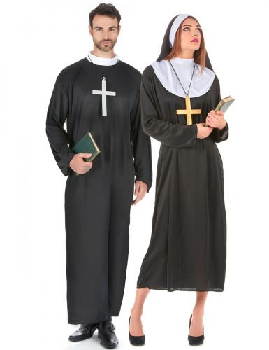 Disfraz de pareja de religiosos