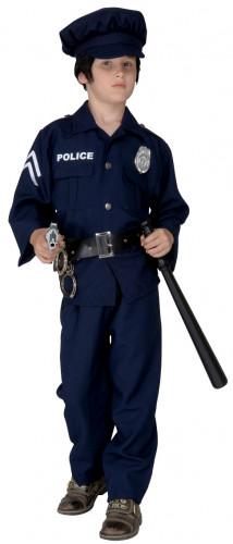 Disfraz de policía para niño azul