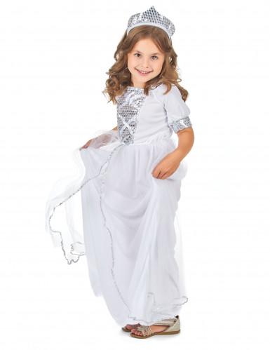 Disfraz plateado de princesa para niña-1
