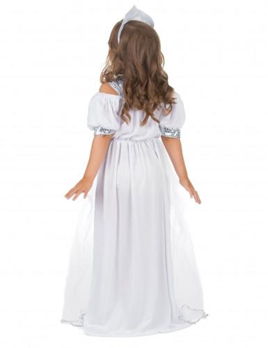 Disfraz plateado de princesa para niña-2
