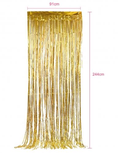 Cortina dorada con brillos-1