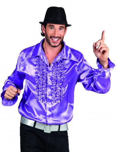 Camisa violeta estilo disco para adulto