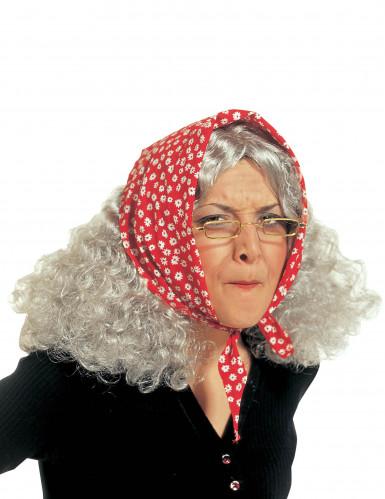 Peluca de vieja para mujer