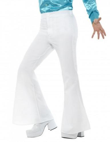 Pantalón blanco estilo disco para hombre