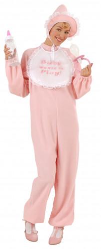 Disfraz rosa de bebé para mujer